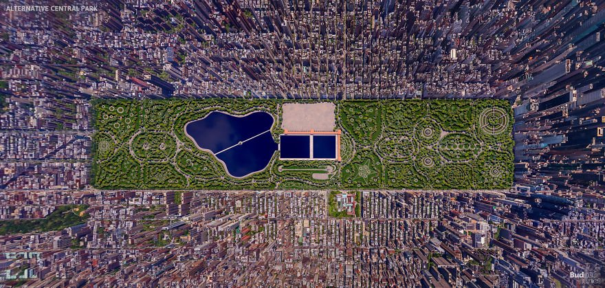 Каким мог быть Центральный парк Нью-Йорка, если бы в конкурсе дизайна