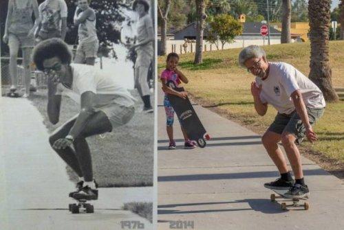 Интернет-пользователи возвращаются в прошлое, воссоздавая свои детские фотографии (20 фото)