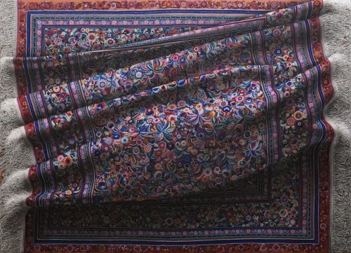 На первый взгляд может показаться, что это фотографии ковров, однако на самом деле это гиперреалистичные картины Антонио Сантина (12 фото)