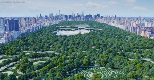 Каким мог быть Центральный парк Нью-Йорка, если бы в конкурсе дизайна 160 лет назад победил другой вариант (6 фото)