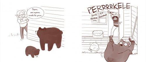 Оказывается, канадцы и финны по-разному прогоняют медведей со своих дворов, и это очень смешно (2 фото + видео)