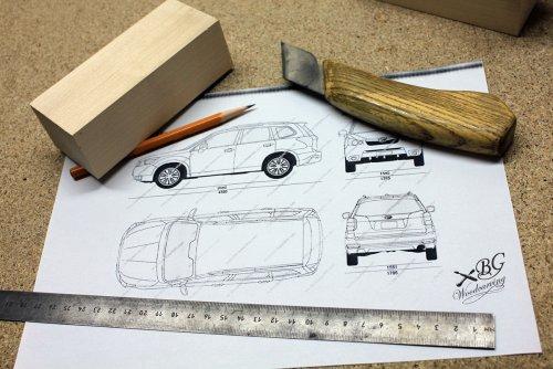Резная модель кроссовера Subaru Forester, изготовленная талантливым украинским мастером по дереву (33 фото)