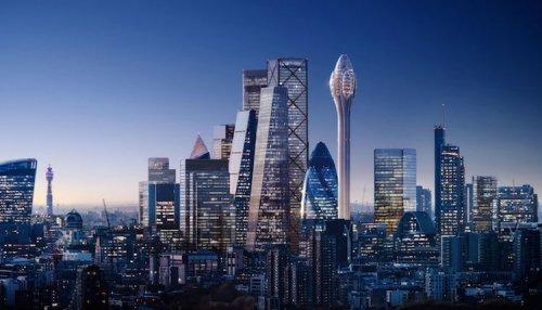 В Лондоне собираются строить новый небоскрёб, и он будет похож на тюльпан (7 фото)