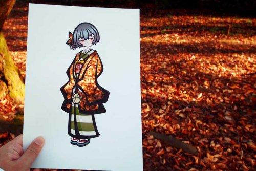 Японская художница раскрашивает свои иллюстрации с помощью самой природы (12 фото)