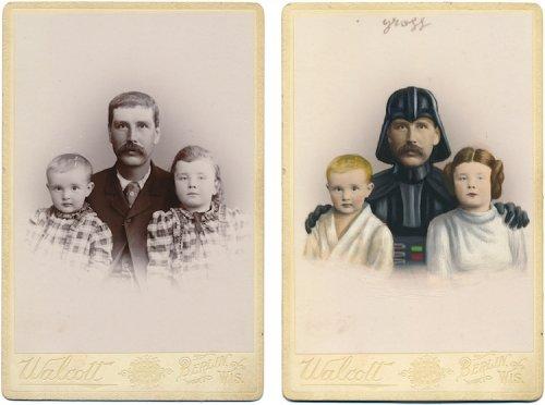 Художник превращает героев викторианских портретов в персонажей поп-культуры (19 фото)