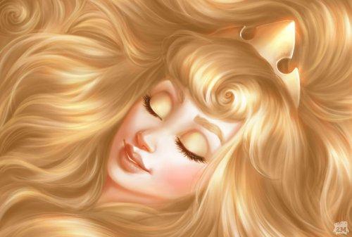 Художники показали волшебную сторону волос диснеевских принцесс, и это можно использовать для рекламы средств по уходу за волосами (10 фото)