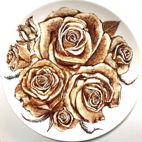 Вкусное искусство: талантливая художница рисует растопленным шоколадом (12 фото)