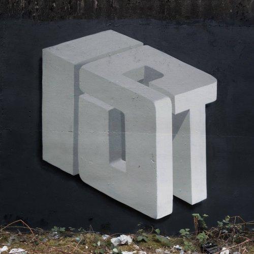 Выразительные складки, извилины и узлы из слов в работах граффити-художника Pref (14 фото)