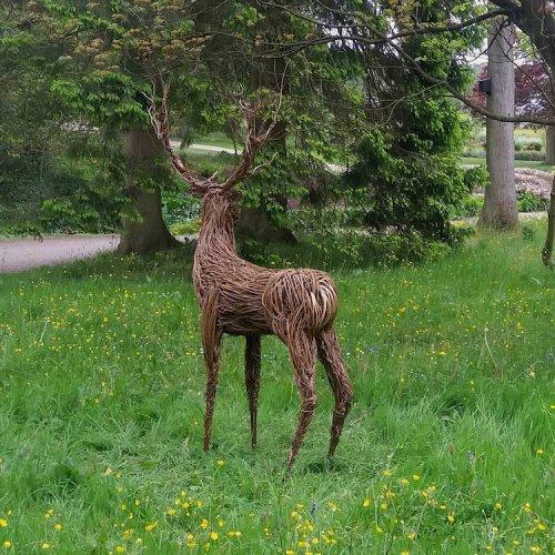 Скульптор из Великобритании украшает лес плетёными из прутьев скульптурами, созданными в натуральную величину (8 фото)