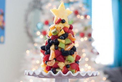 Креативные овощные и фруктовые тарелки, идеальные для подачи на новогодний стол (17 фото)