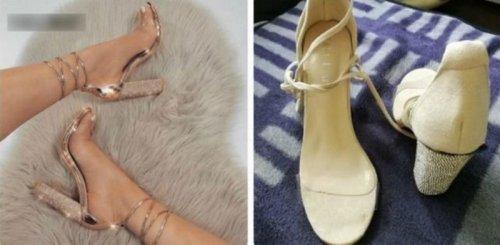 Ожидания vs. реальность: разочаровательные онлайн-покупки обуви (16 фото)