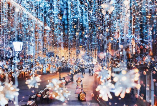 Сказочная предновогодняя Москва в фотографиях Кристины Макеевой (12 фото)