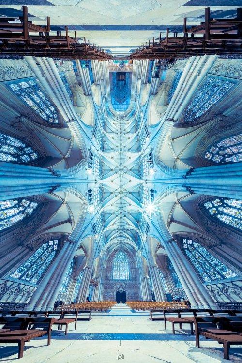 Панорамные фотографии Питера Ли, демонстрирующие красоту соборов (13 фото)