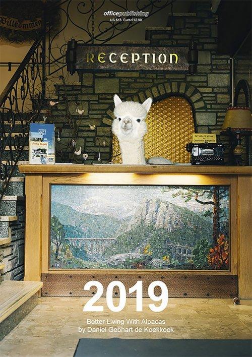 Прелестный календарь на 2019 год с альпака, живущими роскошной жизнью (13 фото)