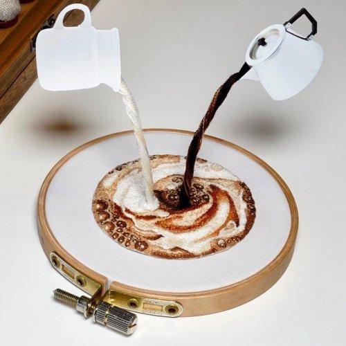 Интерактивная кулинарная вышивка японской художницы (12 фото)