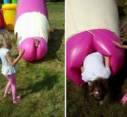 Неуместный и сомнительный дизайн детских игровых площадок (33 фото)