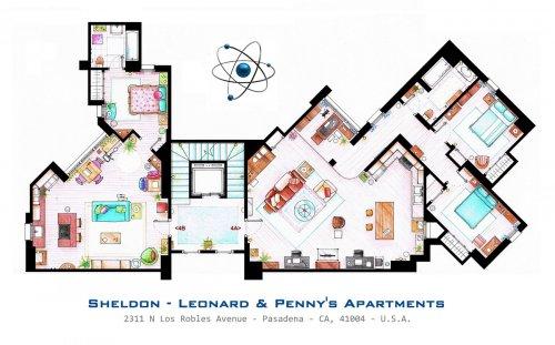 Планы домов и квартир, где живут герои популярных сериалов (7 фото)