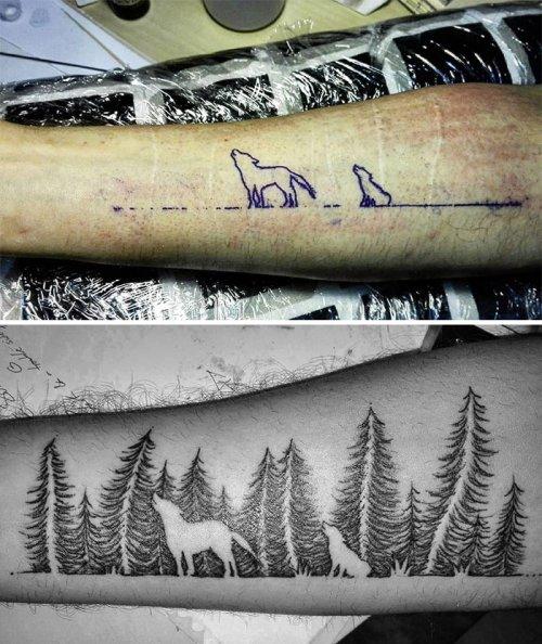 Креативные татуировки, с помощью которых эти люди умело обыграли несовершенства своей кожи (30 фото)