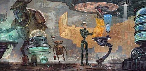 Научно-фантастические миры калифорнийского иллюстратора Мэтта Гейзера (22 фото)