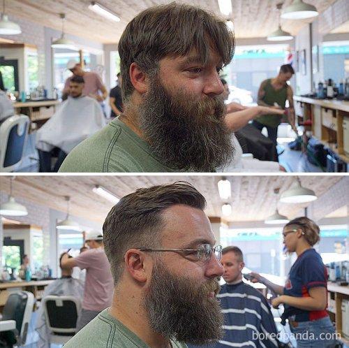 Удивительные преображения, показывающие разницу между ухоженной бородой и тем, что просто растёт на лице (25 фото)