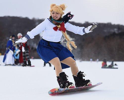 На горнолыжном курорте Nasu Mt. Jeans Resort в Японии прошёл первый фестиваль косплея (16 фото)