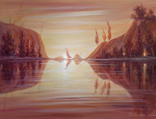 Оптические иллюзии в картинах Олега Шупляка (28 фото)