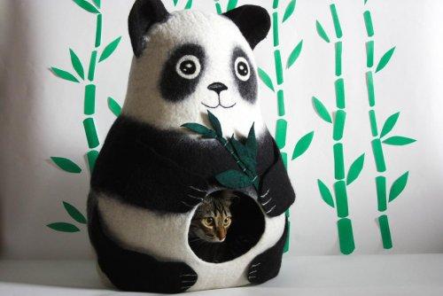Прикольные и необычные кошачьи домики (12 фото)