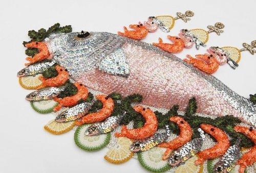 Художница вяжет крючком морепродукты, которые выглядят настолько реалистично, что их хочется попробовать (26 фото)