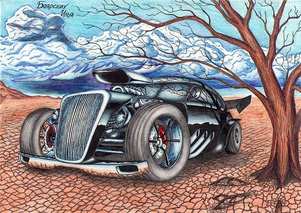 этом картинки для автомобиля рисунки этого важного ритуала