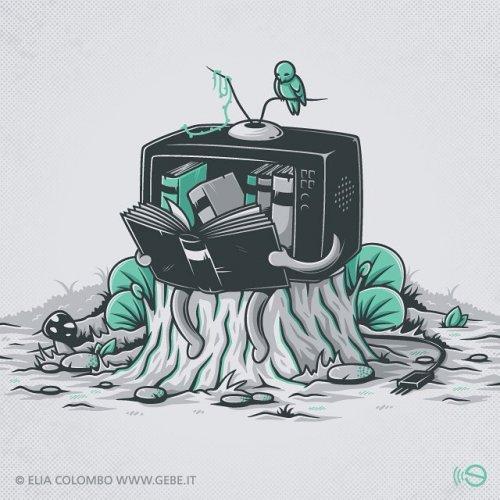 Иллюстрации Илии Коломбо, поднимающие на поверхность подводные камни современной жизни (28 фото)