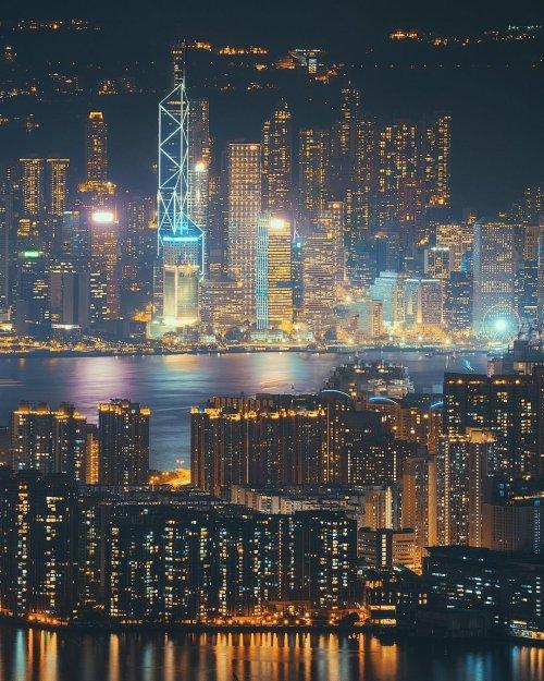 Зрелищные городские пейзажи Китая в фотографиях Хима Чу (24 фото)
