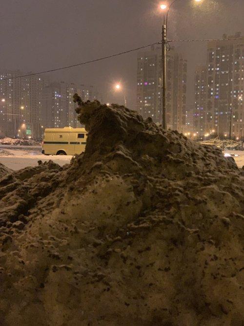 Питерский сугроб стал героем фотожаб (13 фото)