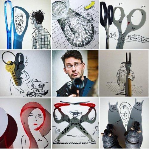 Флешмоб #artvsartist: художники в Instagram делятся своими фотографиями в окружении собственных работ (10 фото)