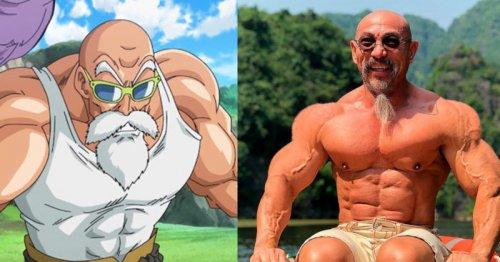 55-летнего бодибилдера сравнивают с Мастером Роши из аниме Dragon Ball Z (7 фото + видео)