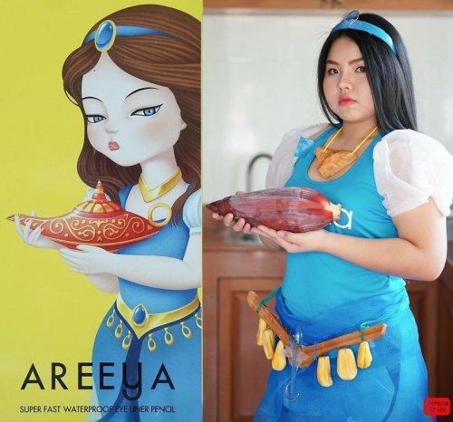 Тайская косплейщица создаёт костюмы с... едой (19 фото)