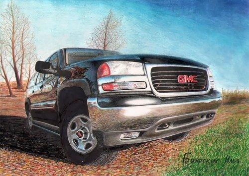 Карандашные рисунки автомобилей Ильи Боярских (11 фото)