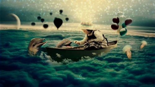 Сюрреалистические фотоманипуляции Александра Переса, которые перенесут вас в волшебный мир (20 фото)