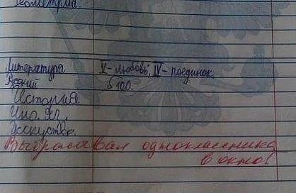Смешные замечания в школьных дневниках (17 фото)