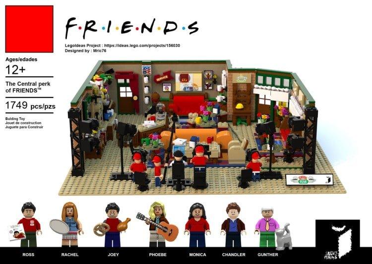 Знаменитая кофейня Central Perk из сериала Друзья, воссозданная из LEGO (6 фото)