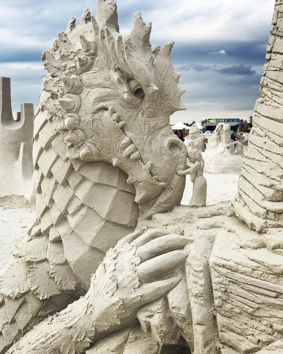 Работы из песка фото