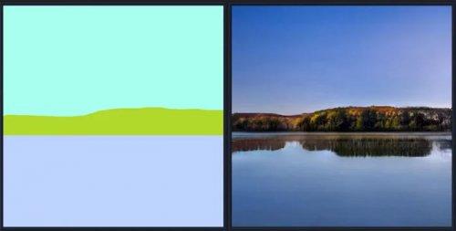 Программа от NVIDIA с помощью искусственного интеллекта за секунды превращает примитивные наброски в фотореалистичные пейзажи (12 фото + видео)