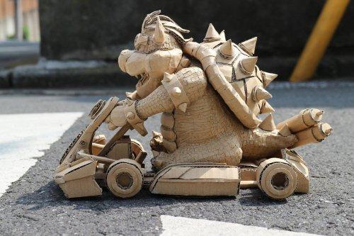 Талантливая японская художница создаёт потрясающие скульптуры из обычных картонных коробок (35 фото)