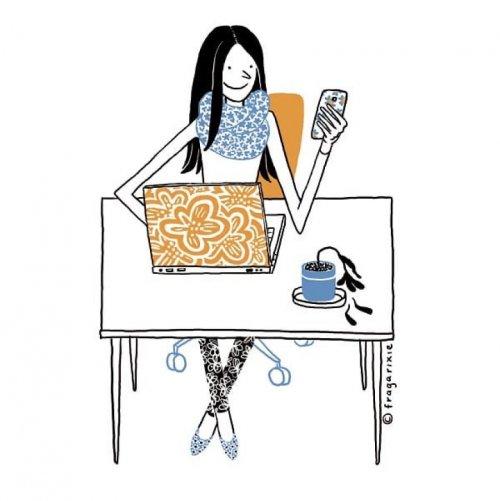 25 заставляющих задуматься иллюстраций об одержимости людей современными гаджетами