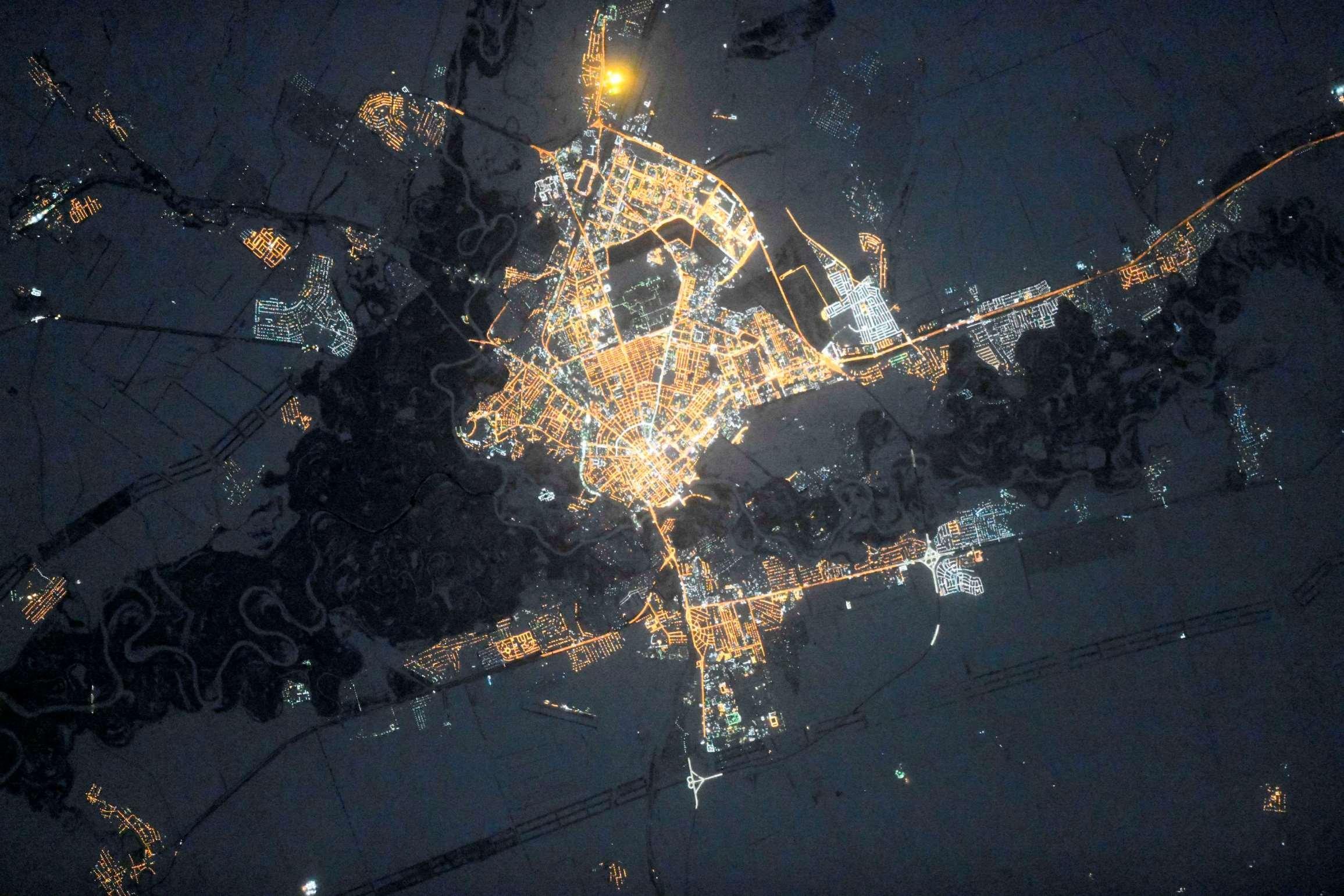 Смотреть фото город оренбург вид из космоса
