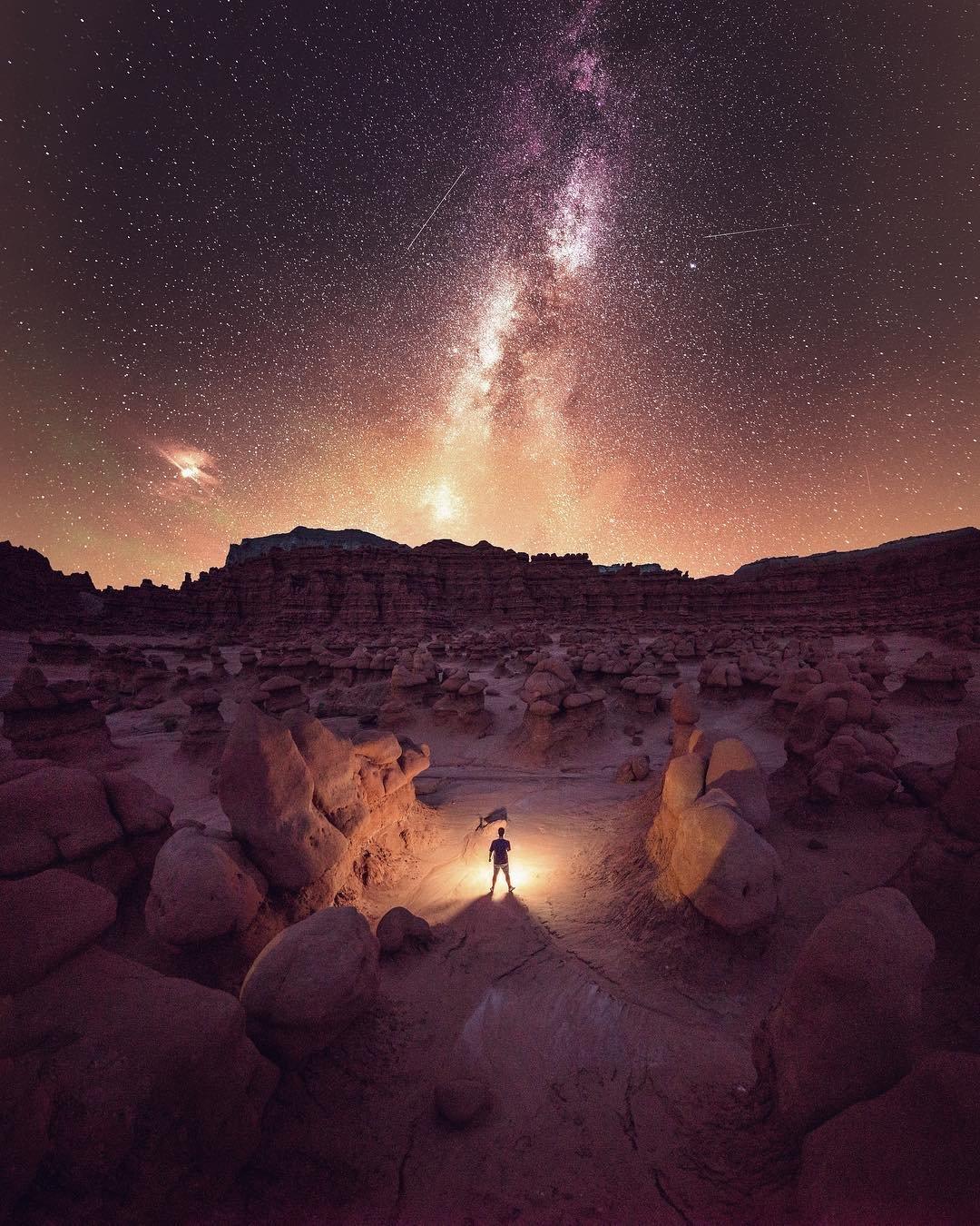 необычные ночные фото способны по-настоящему