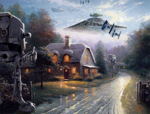 """""""Звёздные войны"""" на картинах Томаса Кинкейда (8 фото)"""