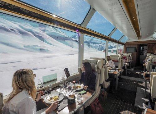 Как выглядит путешествие в «превосходном классе» поезда Glacier Express