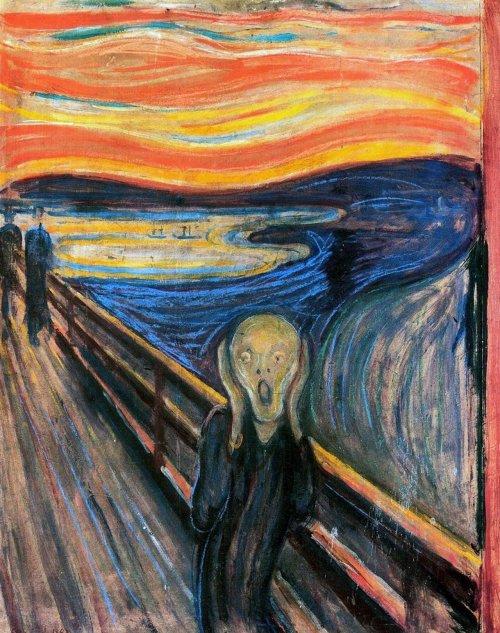 Вопреки широко распространённому мнению, самая известная работа Мунка изображает не кричащего человека, а человека, слышащего крик (4 фото)