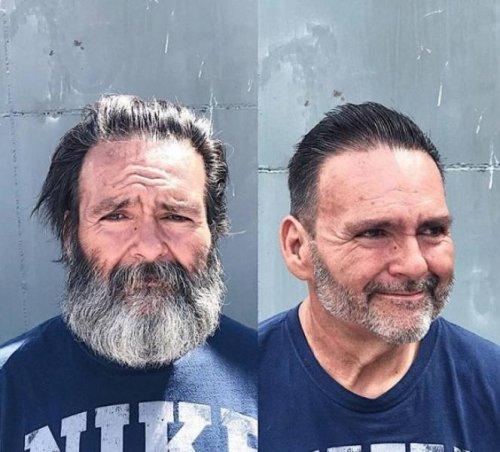 Британский парикмахер бесплатно преображает бездомных, чтобы придать им уверенности в своих силах (25 фото)
