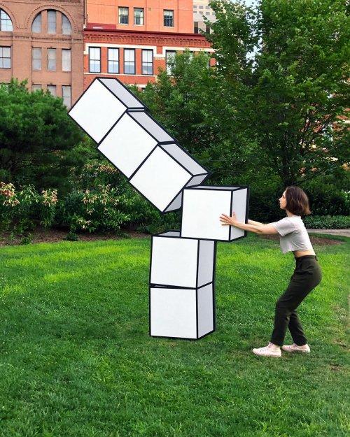 Художник создаёт красочные 3D-иллюзии, придавая пространству новое измерение (12 фото)